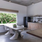 Casa Solaris kitchen with a Caribbean view