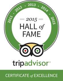 Trip Advisor Hall of Fame 2015