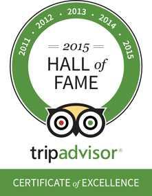 Trip Advisor Hall of Fame 2015
